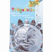 Metaalfolie Folia Pragefolie zilver 522 3 vel A4