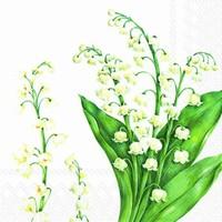 Ihr servet L 546290 (5x) Festive May white 33x33cm/5stuks