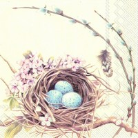 Ihr servet L 571200 (5x) Birds nest with eggs