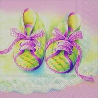 Ihr servet L 71150 (5x) Baby shoes roze  33x33cm/5stuks