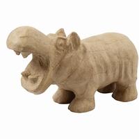 Creotime CCH50725 Papier mache Nijlpaard 18cm(H)x28cm(L)
