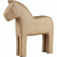 Creotime CCH510710 Papier-mache Paard (Dala paard)