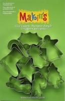 Makin's Clay uitsteekvormen blister,Kerst A 9 stuks1201