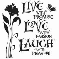 Stencil TCW167 template Live Love Laugh art.3603-608 12inch/30x30cm
