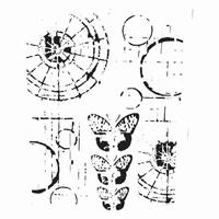 Stencil TCW454 template Specimens art.3603-499 12inch/30x30cm