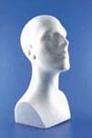 Styropor buste Mannenhoofd met schouder