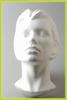 Styropor hoofd met vlakke achterkant vrouw