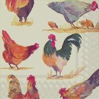 Ihr servet C 567100 (5x) Emmas Farm (kippen) 25x25cm/5stuks