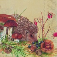 Ihr servet C 605400 (5x) Nosy Little Hedgehog (egeltje)
