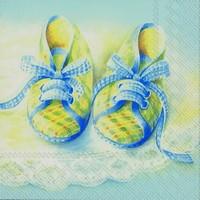 Ihr servet C 71140 (5x) Baby Shoes blauw