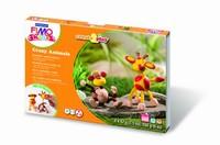 Fimo Kids Create & Play set 8033-06 Crazy Animals/Aap+Giraf