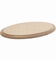Houten schijf ovaal berkenhout 24cm art. 4156 24x14cm