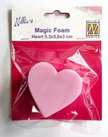Nellie's Choice Magic Foam NMMF006 Heart 5,3x5,6cm