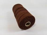 Katoen macrame touw spoel nr.16 890030_1602 Bruin