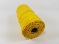 Katoen macrame touw spoel nr.16 890030_1604 Geel 1,5mm/110meter