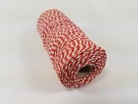 Katoen macrame touw spoel nr.16 890030_1621 Rood/Wit 1,5mm/110meter