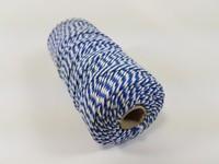 Katoen macrame touw spoel nr.16 890030_1623 Blauw/Wit 1,5mm/110meter