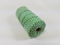 Katoen macrame touw spoel nr.16 890030_1624 Groen/Wit 1,5mm/110meter