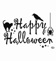 VIVA Decor 9002-738-00 Universal Stencil Happy Halloween A4 kunststof