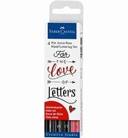 Pitt Artist Pens FC267115 ''For the Love of Letters'' 4-delige set