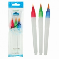 Royal & Langnickel AQFLO-100 Aqua-Flo waterbrush penselen 3-delige set