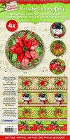 Krimpfolie Sleeves SHRINKSL09 Classic Christmas kerstster 26x7cm/4stuks
