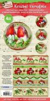 Krimpfolie Sleeves SHRINKSL10 Classic Christmas (vogeltjes) 26x7cm/4stuks