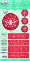 Krimpfolie Sleeves SHRINKSL04 Sparkling Christmas rood 26x7cm/4stuks