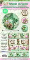 Krimpfolie Sleeves SHRINKSC08 Shabby Chic (kerst) 26x7cm/4stuks