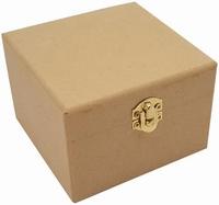 Houten kist 811720-0810 (MDF) kistje vierkant 10cm 10x10x7cm