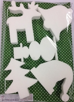 Styropor snijvormen set Kerst/Winter figuren set 5 vormen