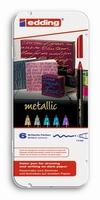 Edding 1200 Metallic color pen set van 6 dekkende kleuren 1-3mm