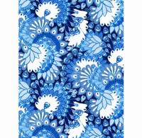 Decopatch papier FDA579 Pauwenveren Blauw  30x40cm 20vel