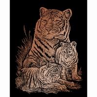 Krasfolie Tiger and Cubs, Copper Foil COPF12 20,3 x 25,4cm