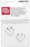Kaarsen wasdecoratie KP8206221 Hart zilver