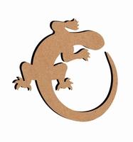 MDF Salamander ca.26cm dikte 5mm GOM283 26x24cm