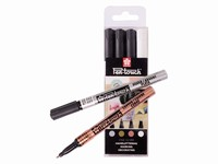 Sakura Pen-Touch 4 metallic markers fine 1.0mm POXPMKA4
