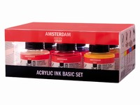 AANBIEDING Amsterdam 17209001 Acrylic ink set 6 flacons  set 6 kleuren