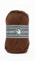 Durable Coral haakkatoen  385 Coffee