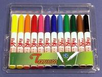 Fleks Textilico brushmarker set 12 kleuren LS504299