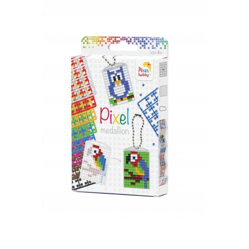 Pixelhobby 20030 medaillon-sleutelhanger set (3 stuks)