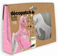 Decopatch complete set Mini Kit KIT009O Eenhoorn ca.13cm