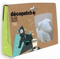 Decopatch complete set Mini Kit KIT017O Hondje ca.9x9cm