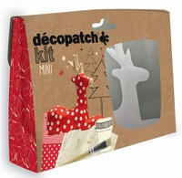 Decopatch complete set Mini Kit KIT018O Rendier ca.12cm