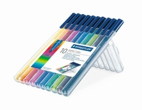 Staedtler 334-SB10 Triplus Color 0.3mm set 10 kleuren