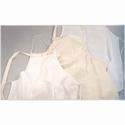 Katoenen kinderschort wit met zak 6-8 jaar49x64cm