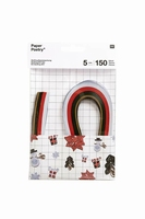 Paper Poetry 99000.63.36 Quilling set XMAS Red-Green 5mm/150stroken