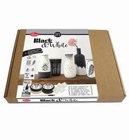 Viva Decor set 8001.533.36 Black & White keramiek effect DIY compleet pakket