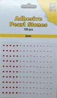 Nellie's Adhesive Pearl Stones 2mm APS201 Rood-Roze 150stuks/2mm