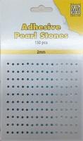 Nellie's Adhesive Pearl Stones 2mm APS203 Blauw-Aqua